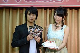 イベントに出席した松井咲子と清水一希「ビンゴ」