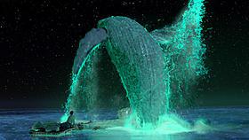 幻想的な光を放ちながらシロガナスクジラが舞う!「ライフ・オブ・パイ トラと漂流した227日」
