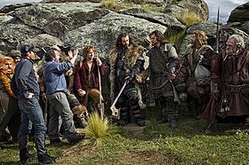 今回初公開となったメイキング画像「ホビット 思いがけない冒険」