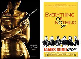 「007 スカイフォール」リバーシブルポスター表面(左)と裏面「007 スカイフォール」