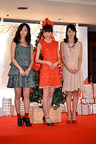 クリスマス女子会イベントを行った桐谷美玲(中央)ら「婚前特急」