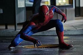 前作「アメイジング・スパイダーマン」の一場面「アメイジング・スパイダーマン2」