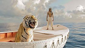 「ライフ・オブ・パイ トラと漂流した227日」の一場面「ライフ・オブ・パイ トラと漂流した227日」