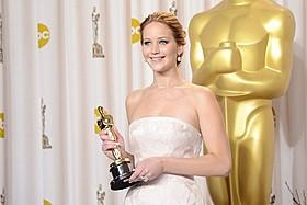 主演女優賞を受賞したジェニファー・ローレンス「世界にひとつのプレイブック」