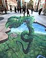 ギネス認定の3Dトリックアーティスト来日! 日テレの地下から巨大な豆の木が出現