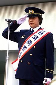 一日消防署長を務めた上川隆也