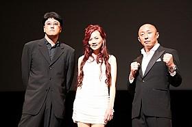 現役引退後は俳優として活動する武田幸三(右)「デスマッチ」