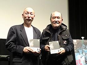 「書を捨てよ町へ出よう」主演の佐々木英明(左)と撮影監督の鋤田正義「書を捨てよ町へ出よう」