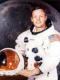 月面に降り立ったニール・アームストロング氏