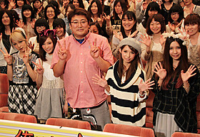 女子限定試写会に登壇した福田雄一監督とSCANDAL「俺はまだ本気出してないだけ」