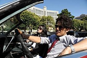 ラスベガス・ストリップ通りでの撮影に臨んだ栗山千明、北村一輝「劇場版 ATARU THE FIRST LOVE&THE LAST KILL」