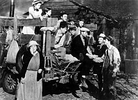 「怒りの葡萄」(1940)の一場面「怒りの葡萄」