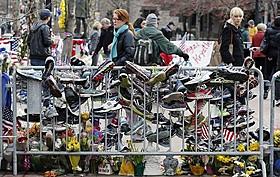ボストン連続爆発テロで封鎖されたゴール地点「ザ・ファイター」