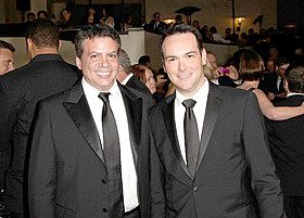 映画版をプロデュースするデ・ルカ(左)&ブルネッティ「ワイルド・スピード」