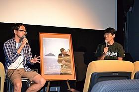 テレンス・マリック最新作を語る松江哲明監督(右)「トゥ・ザ・ワンダー」
