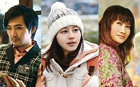 「麦子さんと」で共演した松田龍平、堀北真希、余貴美子「麦子さんと」