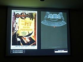 ロジャー・コーマン「恐怖の振り子」ポスター比較 右側がチェコのポスター「ブラザーズ・グリム」