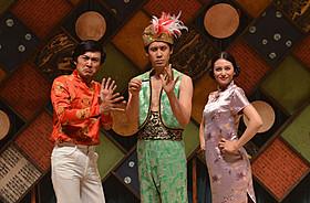 「青天の霹靂」で出演も兼ねる劇団ひとり監督 と主演の大泉洋、ヒロインの柴咲コウ「青天の霹靂」