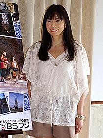 BSフジ開局10周年番組に出演した際の山口智子