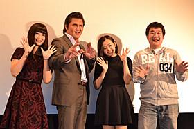 舞台挨拶を盛り上げた竹内力ら「バトル・オブ・ヒロミくん! The High School SAMURAI BOY」