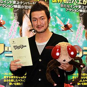 インド映画の公開アフレコを行った中村獅童「マッキー」