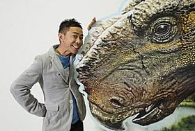 パキリノサウルスの声を担当する木梨憲武「ウォーキング with ダイナソー」