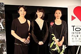(左から)梅野渚、松岡恵望子、坂本あゆみ監督「FORMA」