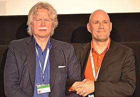 ベネディクト・エルリングソン監督と、 プロデューサーのフリズリク・ソール・フリズリクソン「馬々と人間たち」