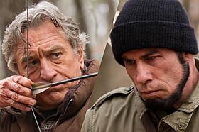 元米軍人役のデ・ニーロ(左)と 元セルビア兵士役のトラボルタ「キリングゲーム」