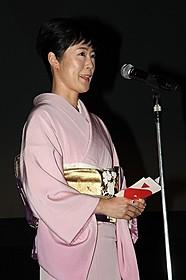 コンペティション部門で審査員を 務めた女優の寺島しのぶ「ウィ・アー・ザ・ベスト!」