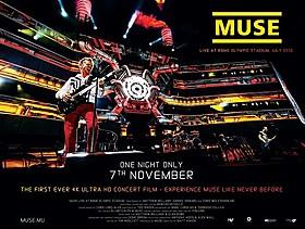 MUSEの圧巻のステージが劇場で体感できる「MUSE ライヴ・アット・ローマ・オリンピック・スタジアム」