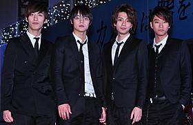 「CRUDE PLAY」として演奏を披露した 三浦翔平、窪田正孝、水田航生、浅香航大「カノジョは嘘を愛しすぎてる」