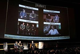 米・英・ニュージーランドの4会場を衛星で結んで開催「ホビット 竜に奪われた王国」
