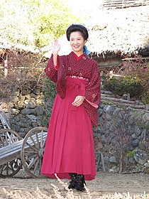 山梨ロケに初参加した吉高由里子「赤毛のアン」