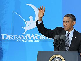 ドリームワークスアニメを訪問したオバマ大統領