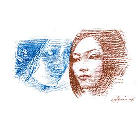 宇野亜喜良氏が本作をイメージした描き下ろしイラスト「パリ、ただよう花」