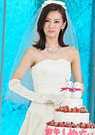 ウエディングドレス姿を 披露した北川景子「抱きしめたい 真実の物語」