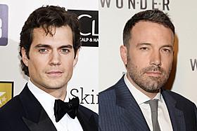 スーパーマン役のヘンリー・カビル とバットマン役のベン・アフレック「マン・オブ・スティール」