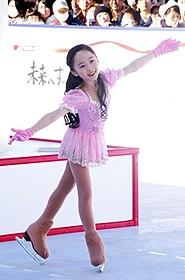 スケートを楽しんだ本田望結ちゃん
