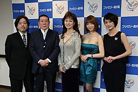 取材に応じた(左から)樋口尚文監督、 大瀬康一、夏樹陽子、森下悠里、中丸シオン「インターミッション」