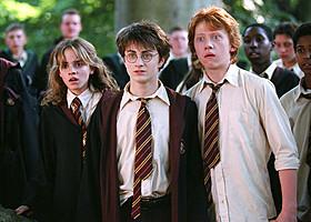 ハーマイオニー、ハリー、ロンの3ショット