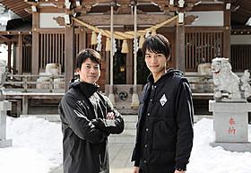 「イン・ザ・ヒーロー」に主演する唐沢 寿明と所属事務所の後輩でもある福士蒼汰「イン・ザ・ヒーロー」