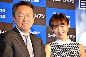 (左より)熱弁を振るった池上彰氏と優木まおみ「エージェント:ライアン」