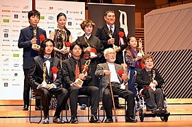 石井裕也監督、松田龍平ら受賞者「舟を編む」