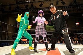 ヒット・ガールに扮した愛娘とリングに上がった武藤敬司「キック・アス」