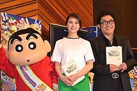 アフレコに臨んだ武井咲とコロッケ「映画クレヨンしんちゃん ガチンコ!逆襲のロボとーちゃん」