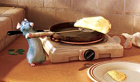「レミーのおいしいレストラン」(2007)の一場面「Mr.インクレディブル」