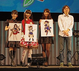 「AnimeJapan2014」のイベントに登壇した 声優陣と、それぞれが演じる艦娘のビジュアル「劇場版 艦これ」