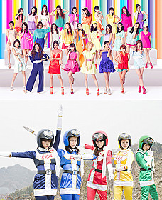 E-girl(写真上)が「女子ーズ」(下)の 世界をポップに彩る「女子ーズ」