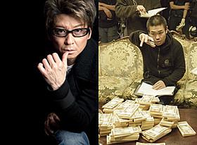 芸能生活30周年を迎えた哀川翔(左)と 記念映画のメガホンをとる品川ヒロシ監督「サンブンノイチ」